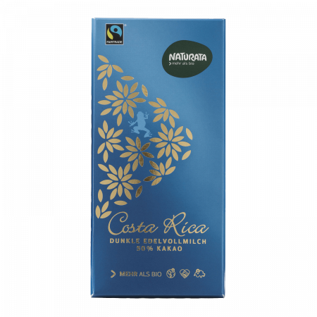 Costa Rica dunkle Edelvollmilch 50%, 100 g
